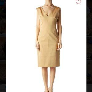 Size 34 (Small) Escada Work Dress, Gold